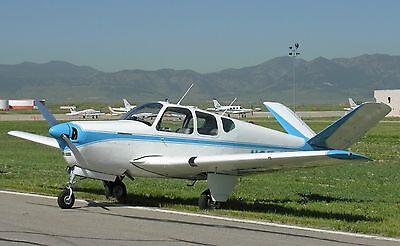 Beechcraft Bonanza American General Aviation Aircraft Mahogany Wood Model Small