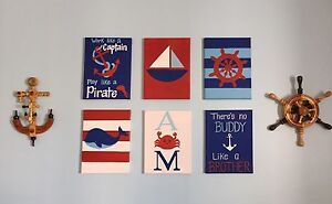 Paintings for nautical themed bedroom
