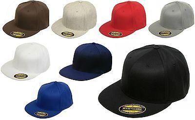 Original FLEXFIT® 210 NEW Premium Flatbill Blank Fitted Flat Bill Cap Hat 6210FF