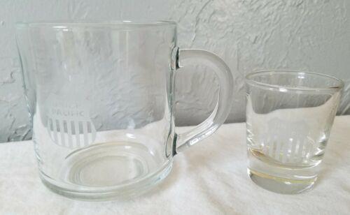 Union Pacific Railroad Clear Glass Mug and Shot Glass