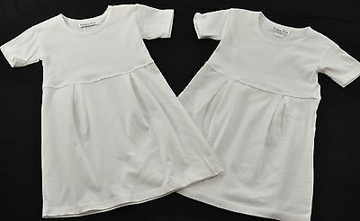 lot of 2 little Girl white darted dresses 100% cotton size 2 monogramable dyable](White Little Girl Dresses)