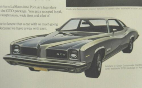 1973 PONTIAC LEMANS GTO SALES BROCHURE