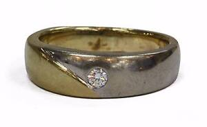 9ct Yellow/White Gold Mens Diamond Ring Joondalup Joondalup Area Preview