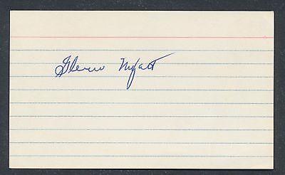 1920 Glenn Myatt Vintage Baseball Signed Index Card  D  1969  Jsa