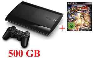 SONY PLAYSTATION 3 PS3 SUPER SLIM 500 GB + DUALSHOCK CONTROLLER + 1SPIEL  NEU