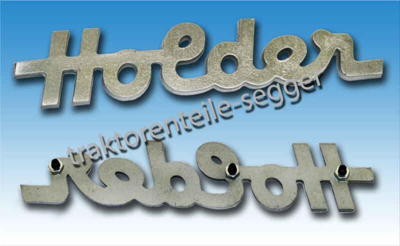 1 Haubenschriftzug Hauben-Schriftzug Holder Motorhaube Traktor Schlepper  Foto 1