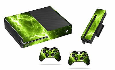 Green Electric Sticker/Skin xbox one Console,Kinect & Remote controllers, x1sk18