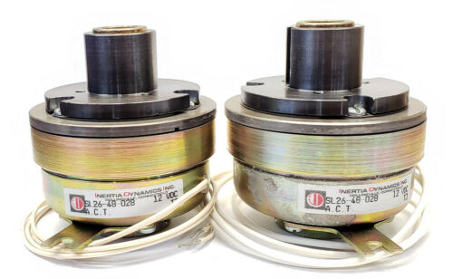 2 Pk - Inertia Dynamics High Torque SL26 Electromagnetic Clutch 12V DC 80 lb-in