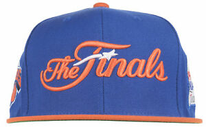 Mitchell and Ness Rockets vs Knicks 1994 NBA Finals Snapback Hat Cap Mens Blue