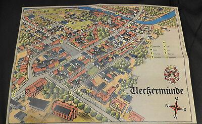 Gebraucht, Stadtplan Ueckermünde aus DDR Zeiten 1986 gebraucht kaufen  Ueckermünde