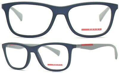 Prada Linea Rossa Damen Herren Brillenfassung PS04FV UR5-1O1 55mm blau 448 58