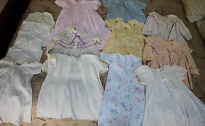 12 PC LOT VINTAGE BABY CLOTHES FOR REPAIR CUTTER SALVAGE COATS CHRISTENING +++