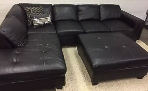 Sectional and ottoman. Can deliver