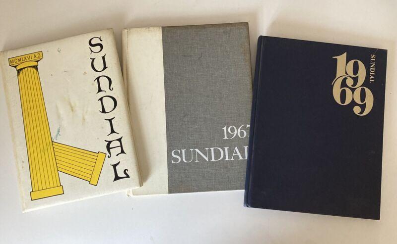 lot of 3 marlborough high yearbooks Sundial 1967 68 69 Los Angeles Girls School