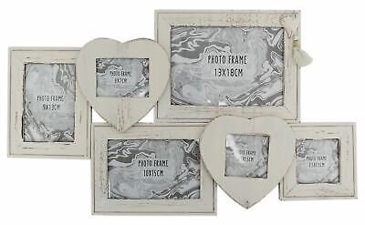 Shabby Chic Multi Photo Frame ~ Wooden Collage Picture Frame ()
