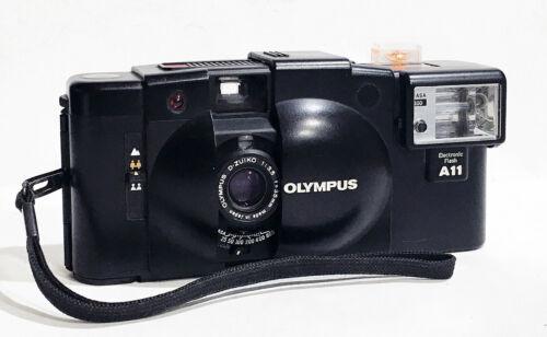 Olympus XA2 35mm Film Camera with A11 Flash Film Tested *New Seals* MINT-