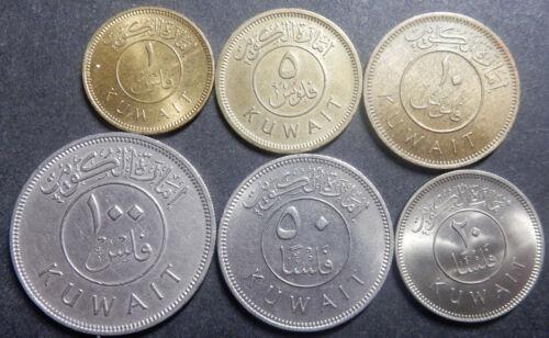 Kuwait Complete set 1+5+10+20+50+100 Fils 1961 AH 1380 Up to Top grade! Rare!