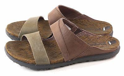 Merrell Womens Around Town Slide Sandal Brown Green Size 7 M US