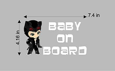 Catwoman Baby on Board / DC Comics Batman / Vinyl Vehicle Kids Graphic Art - Baby Catwoman