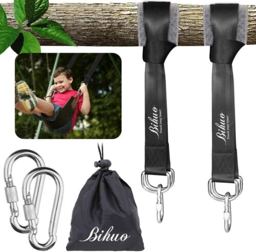 Tree+Swing+Hanging+Straps+Kit+5ft+with+Sturdy+Carabiner+Hooks+for+Hammock+2000lb