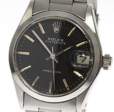 ROLEX Oyster Date Precision 6466 Hand winding cal.1225 Boy's Watch_399625