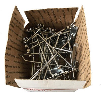 8 Wire Grid Wall Hooks - Chrome - Box Of 40