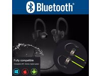 Waterproof Wireless Bluetooth Earphones Headphones Mic For Samsung iPhone iPad
