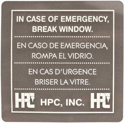 Hpc Replacement Glass For Hpc Emergency Key Box 511