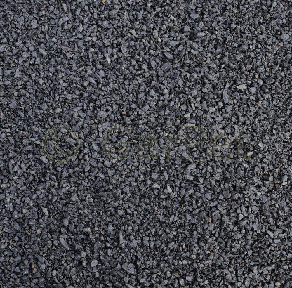 Natur Kies Basalt schwarz Bodengrund Zierkies Garten Aquarium 3 - 5 mm 5 25 kg