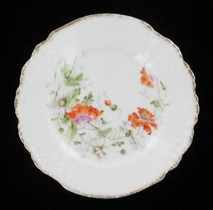 ANTIQUE-KPM-MEISSEN-FLORAL-POPPIES-DAISIES-SHELL-SCALLOPED-CABINET-PLATE-6