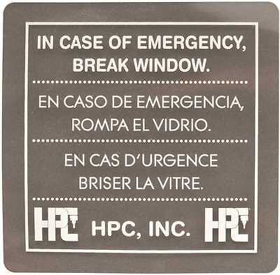 Hpc Emergency Key Box Replacement Glass