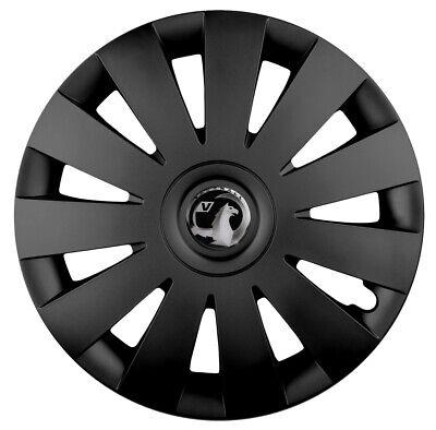Vauxhall Corsa 15 Inch Black with Red Pinstripe Car Hub Caps Wheel Trims 15 Set of 4