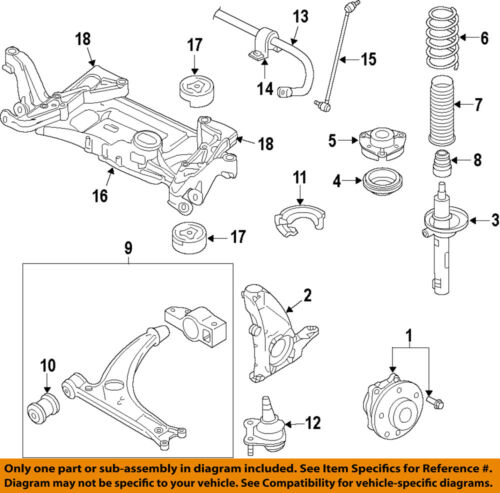 Vw Volkswagen Oem Golf Front Suspension Steering Knuckle Spindle 5q0407254a Ebay