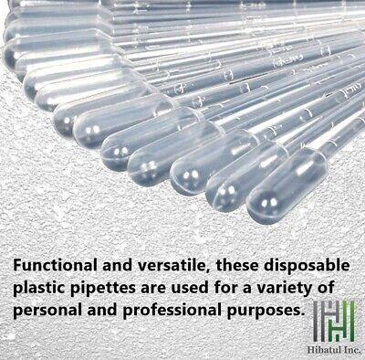 3ml Plastic Transfer Pipettesdisposable Graduated Dropper Lot Of 100