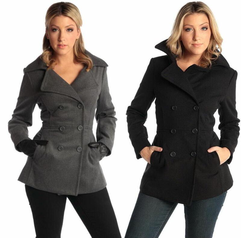 Alpine Swiss Emma Womens Peacoat Jacket Wool Blazer Double Breasted Overcoat New