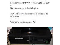"""Large TV entertainment unit - Takes upto 55"""" TV with four compartments for your DVD, sat, consoles"""