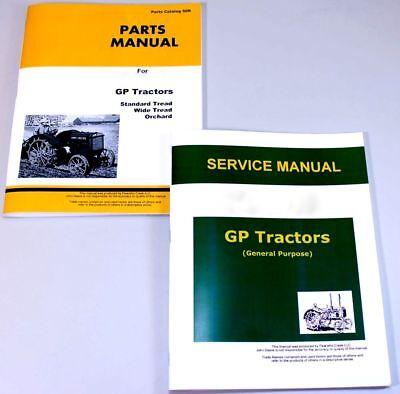Service Manual For John Deere Gp Tractor Repair Parts Catalog Technical Shop