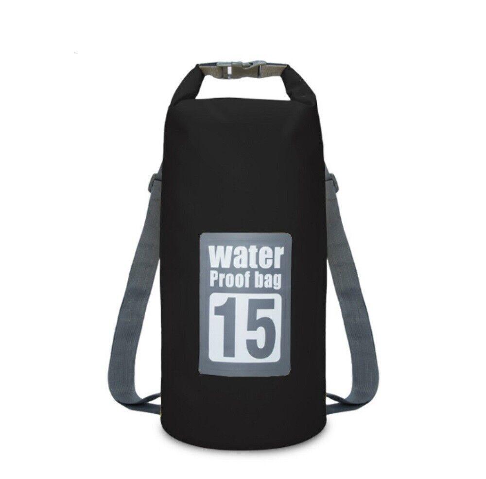 15L Waterproof Dry Bag Roll Top Dry Gear Bag for Kayak, Fishing, Boating Accessories