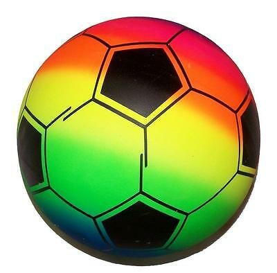 Soccer Rainbow Kick (SOCCER SPORTS  RAINBOW 9IN PLAY BALLS kick bounce throw toy rubber ball)