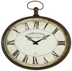 Vintage Style Oval French Wall Clock Galerie du Gaston