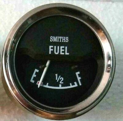 Smiths Fuel Gauge chrome bezel 52 mm Fuel Gauge 12 v replica