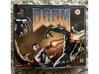 Game DOOM for European PlayStation console.