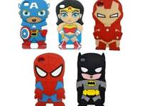 Job lot of iphone 5 silicon superhero phone covers cases