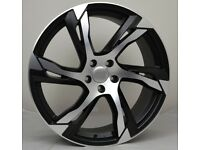 """20"""" 6 Spoke R Design style wheels & tyres suitable for a Volvo XC40, XC60 Etc"""
