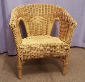 Small Wicker Chair for Child or Toy / Teddy / Doll Display