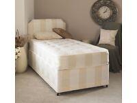 Cheap Price & Brand New Single Divan bed Base❤3FT Bed +Deep Quilt/Orthopedic/Memory Foam Mattress