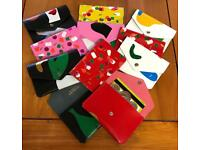 Real leather abstract popper purse. Cute gift. Stocking filler, secret Santa, Christmas