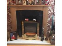 Electric fires with surrounds