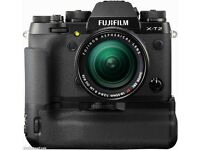 fuji xt2 mint condtion with box battery grip and 23mm f1.4 all new