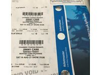 For Sale - 2x Jimmy Carr tickets - Friday 12th November 2021 - 7pm. Bedford Corn Exchange